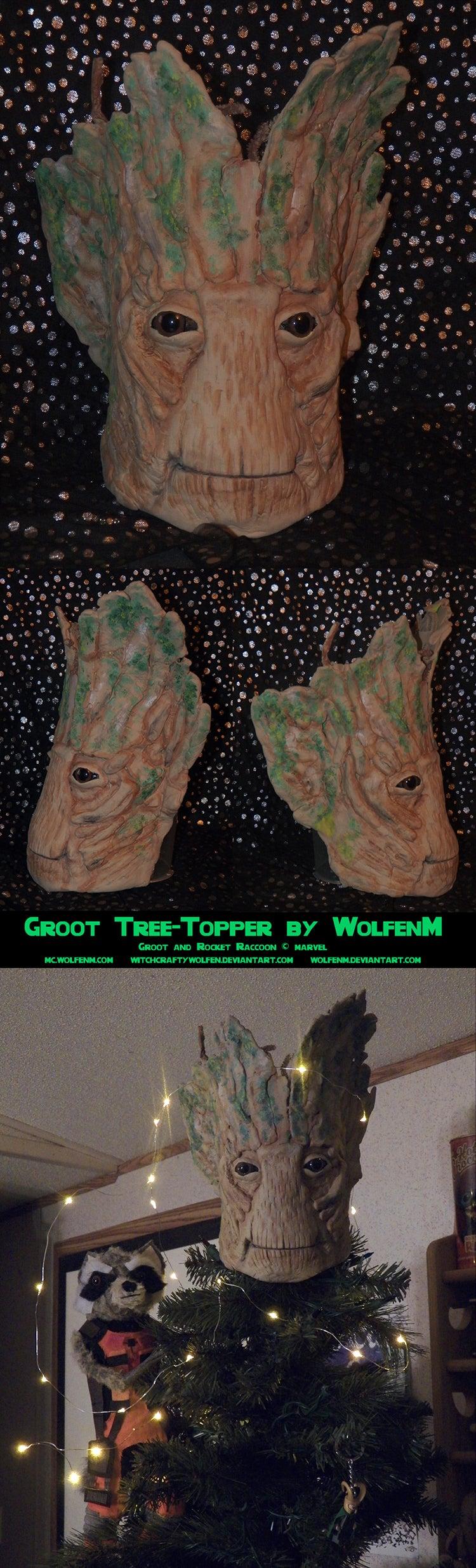 Marvel Christmas Tree Topper.Custom Guardians Of Galaxy Tree Topper Turns Christmas Tree