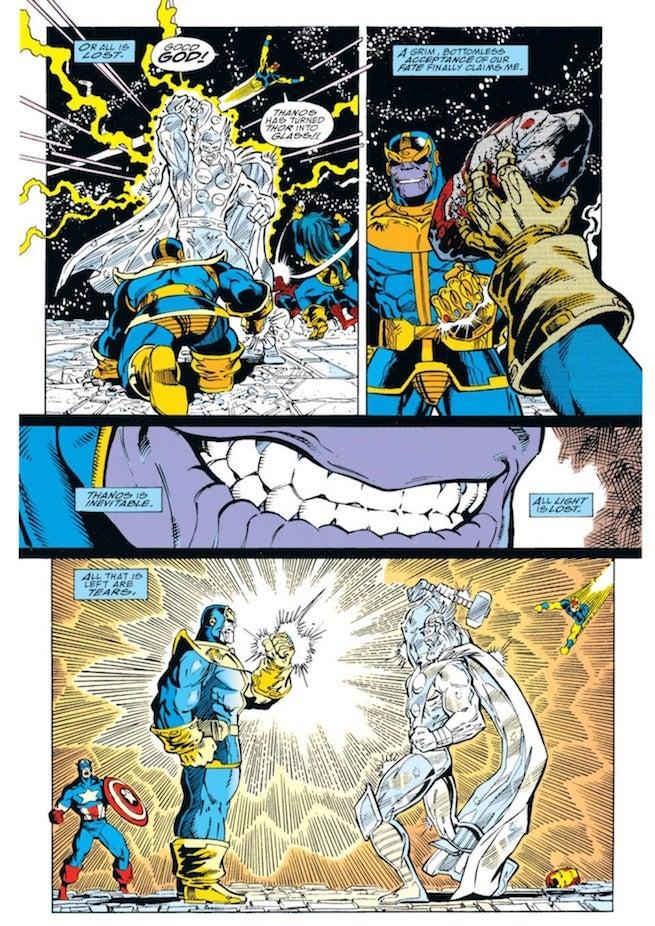 Infinity Gauntlet Thanos Kills Thor