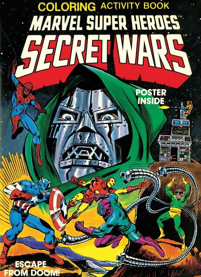 Marvel Super Heroes Secret Wars Activity Book Cover