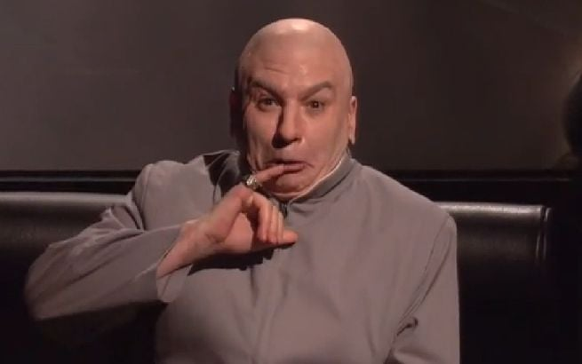 Mike Myers as Dr. Evil on SNL