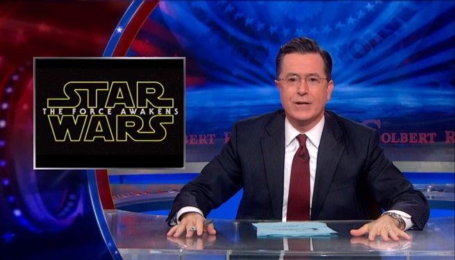 Stephn Colbert Star Wars The Force Awakens