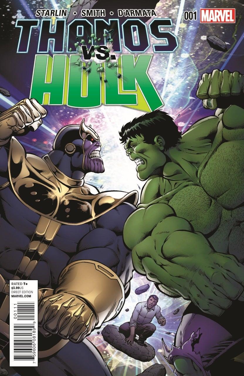 Thanos Vs Hulk Cover