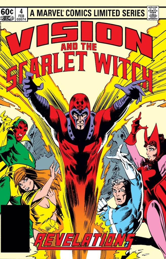 Vision Scarlet Witch 4 cover