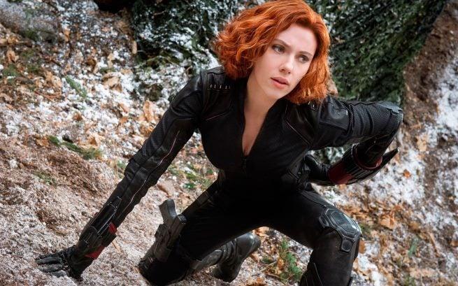 black widow in avengers  age of ultron-wide