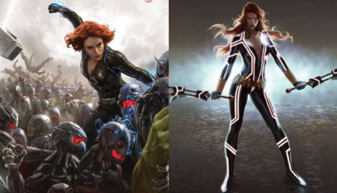 Avengers Age Of Ultron Is Black Widow S New Costume Based