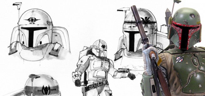 Star Wars Original Boba Fett Concept Art By Joe Johnston