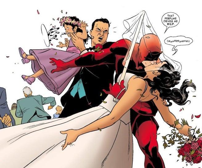 Daredevil Kiss the Bride