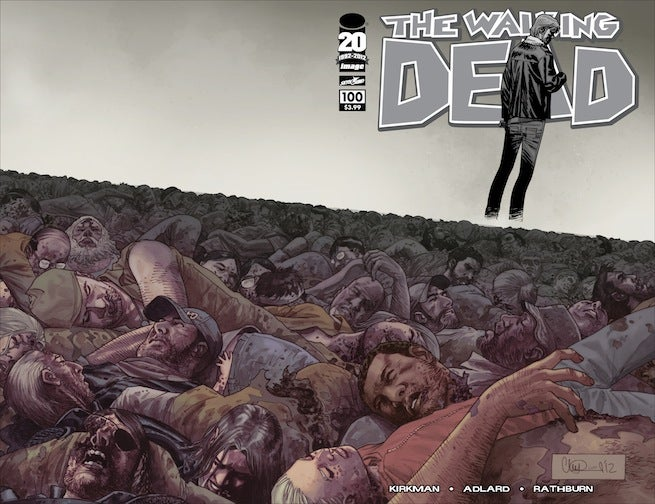 Walking Dead 100 cover