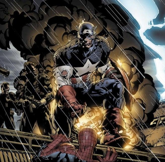 Captain America Spider-Man Raft