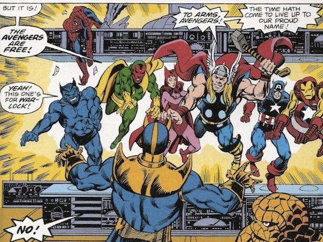 Spider-Man frees Avengers