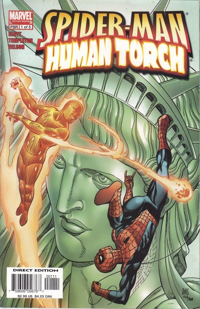 Spider-Man Human Torch 1 cover
