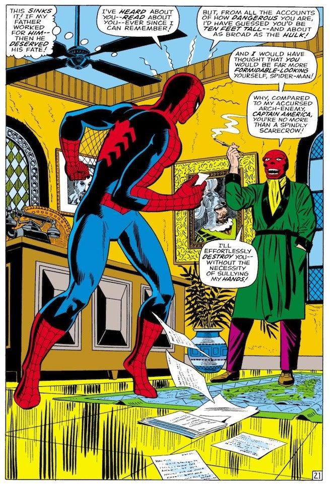 Spider-Man vs Red Skull