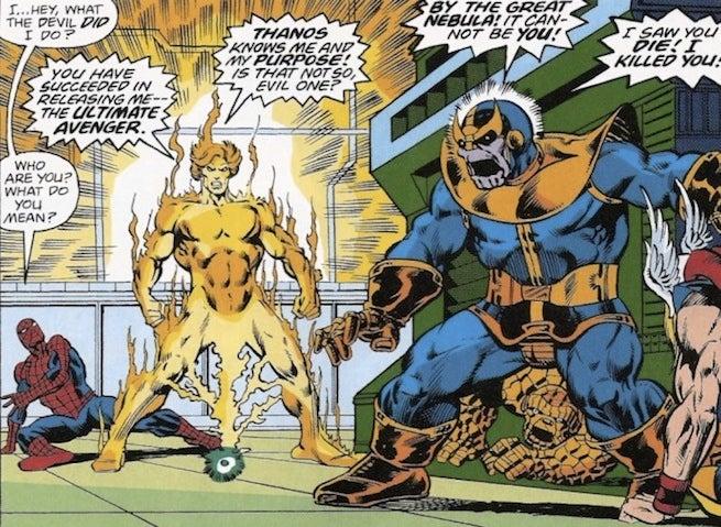 Spider-Man Warlock Thanos