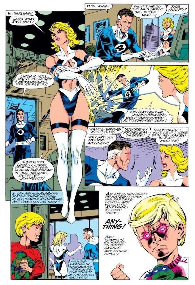 Sue Storm costume change