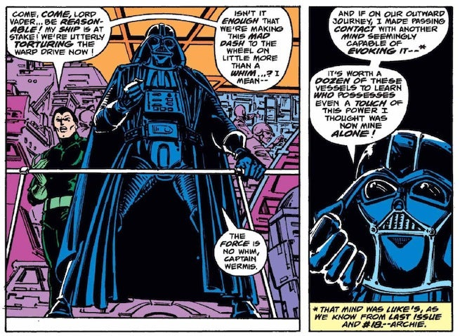 Vader uses the force