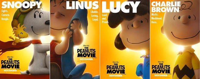 Peanuts Character Posters Revealed