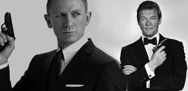 """Daniel Craig and Roger Moore Go """"Behind The Bond"""" in Charity Comedy Sketch"""