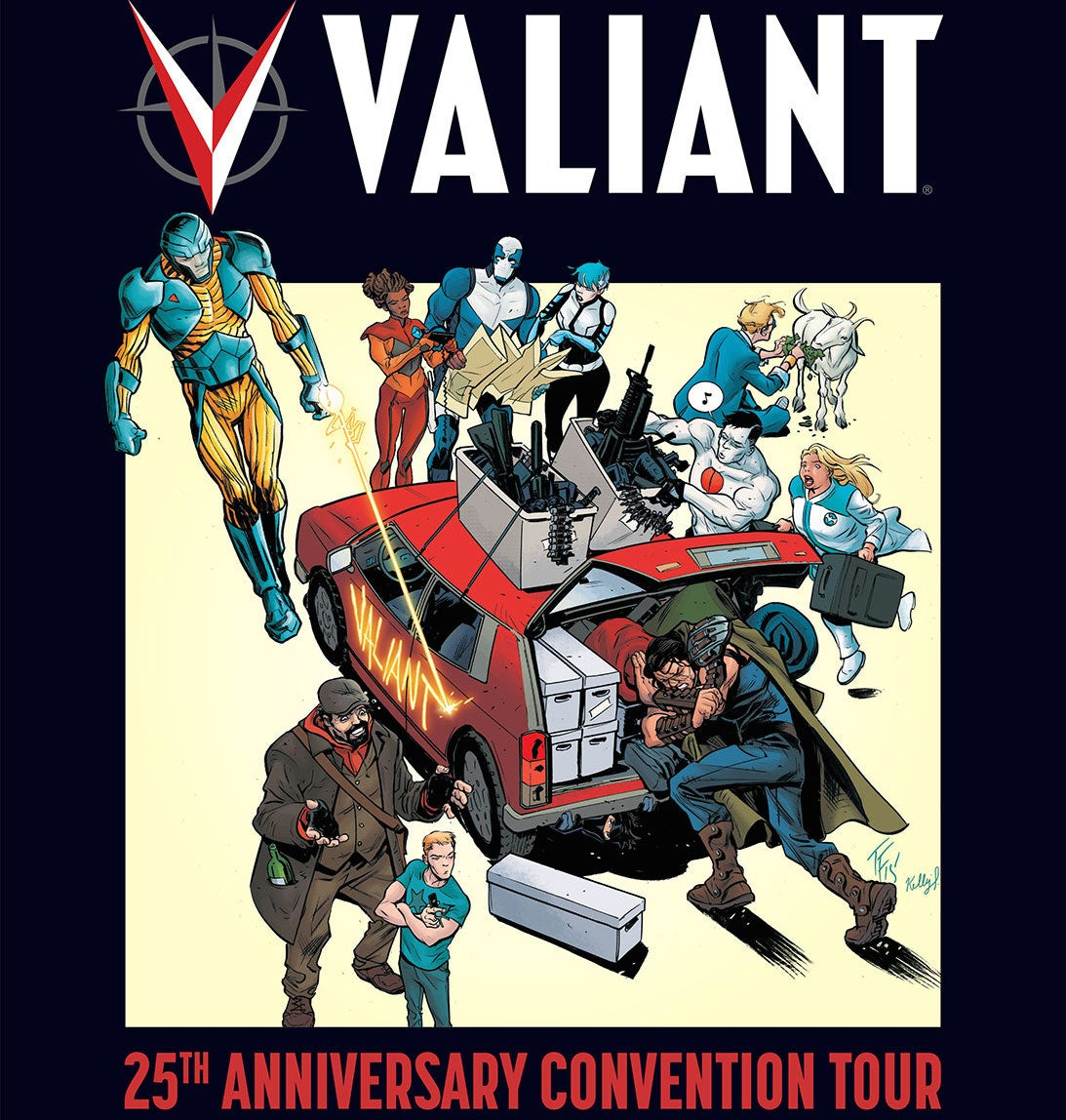 VALIANT 25th-Anniversary-Con-Tour Art-by-Tom-Fowler