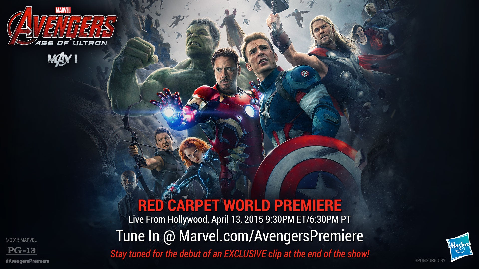 Avengers: Age Of Ultron Red Carpet Premiere To Be Broadcast Online