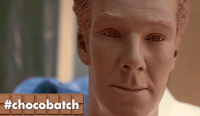 Benedict Cumberbatch Chocolate Statue