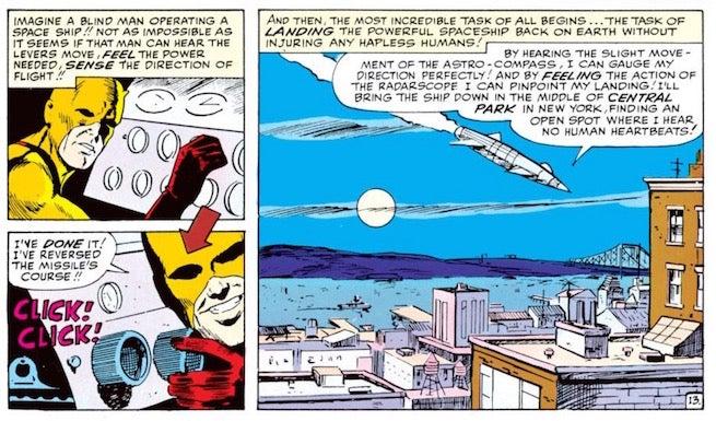 Daredevil pilots a rocket