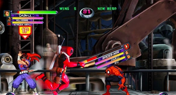 Deadpool MvC3 weapon bar
