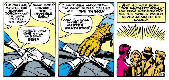 Fantastic Four Hands in a Circle