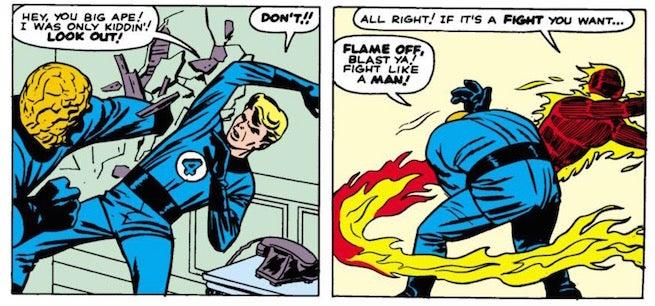 Fantastic Four Johnny Ben Fight