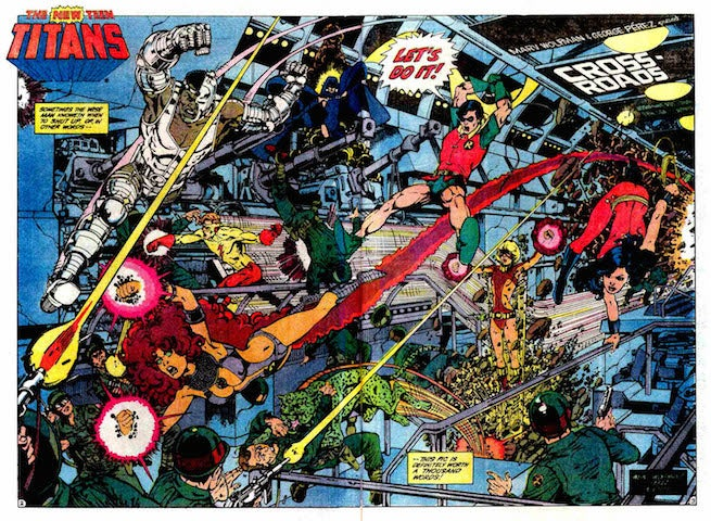 New Teen Titans Splash Page