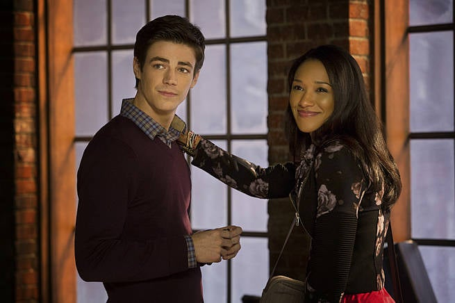 Barry Allen Grant Gustin and Iris West Candice Patton