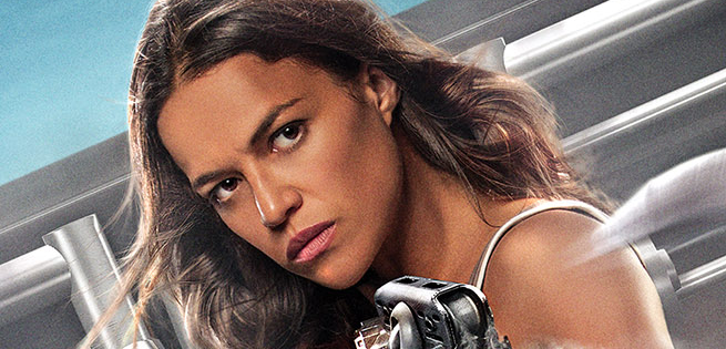 Michelle Rodriguez Poster For Fast & Furious: Supercharged Released