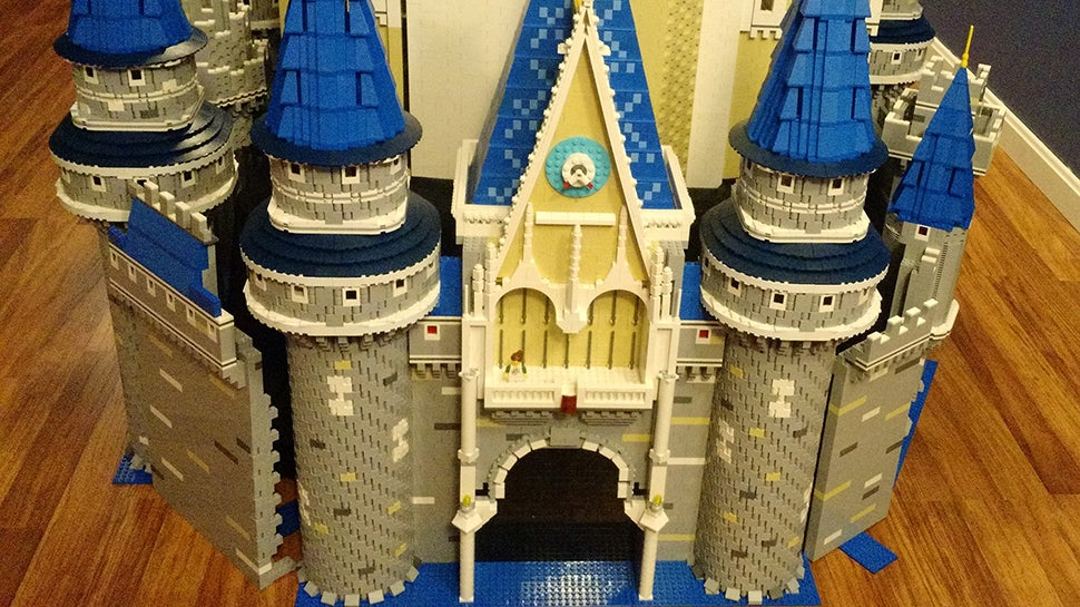 Massive Cinderella Castle Built From 50,000 LEGO Bricks