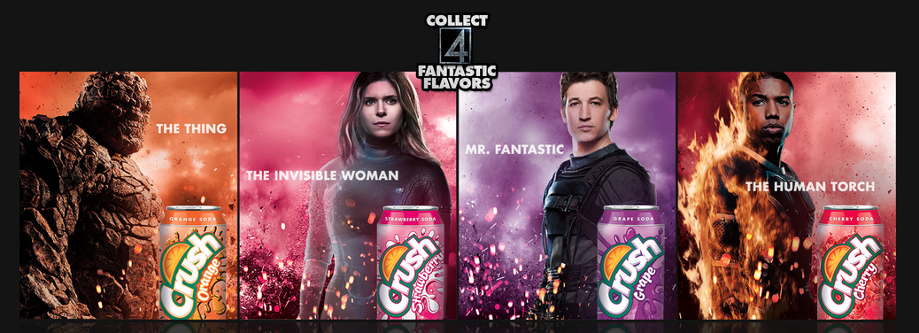 The Fantastic Four Crush and Clobber In New Soda Promo