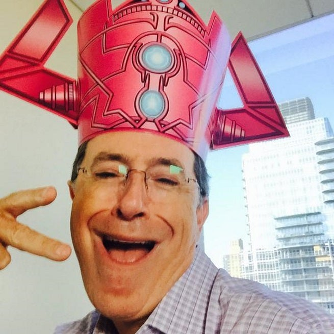 Stephen Colbert Takes Galactus Selfie, Devours Lunch