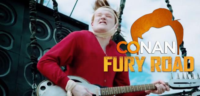 Conan O'Brien Arrives Mad Max-Style At Comic Con