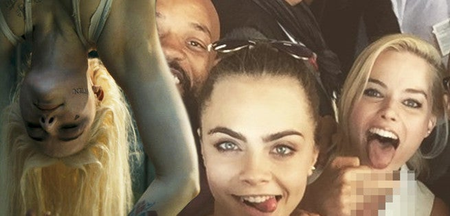 Margot Robbie Stays In Character In Suicide Squad Selfie