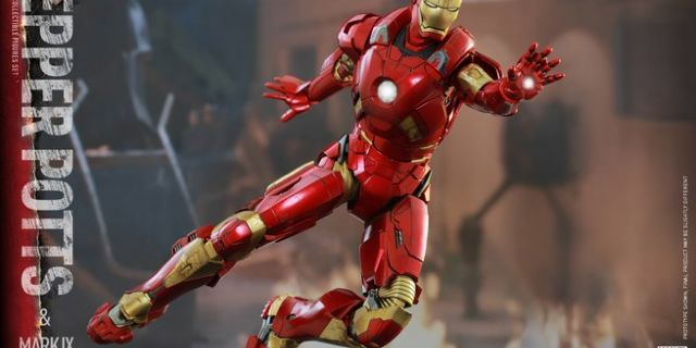 Hot Toys - Iron Man 3 - Pepper Potts & Mark IX Collectible Figures Set_PR9