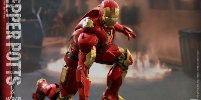 Hot Toys - Iron Man 3 - Pepper Potts & Mark IX Collectible Figures Set_PR11