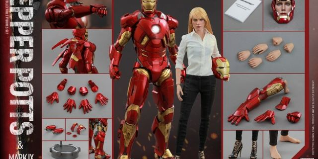 Hot Toys - Iron Man 3 - Pepper Potts & Mark IX Collectible Figures Set_PR16