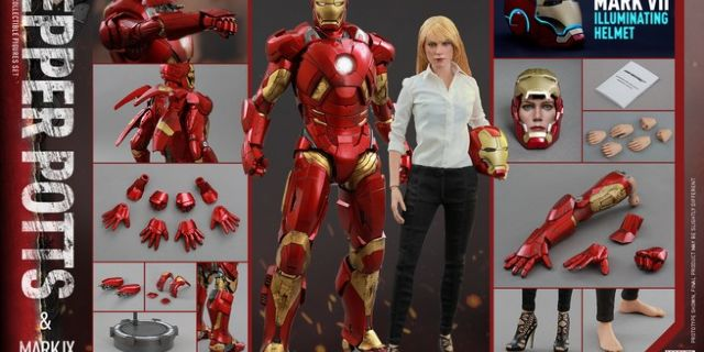 Hot Toys - Iron Man 3 - Pepper Potts & Mark IX Collectible Figures Set_PR17_(Special Version)