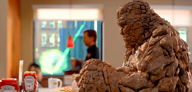 Fantastic Four: The Thing Speaks In Denny's TV Spot