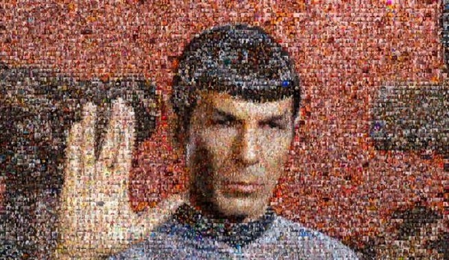 William Shatner Reveals Leonard Nimoy Tribute Mosaic Comprised Of Spock Selfies
