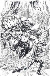 Defenders #1 Neal Adams variant