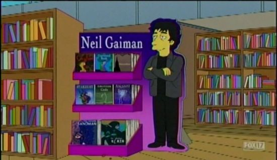 The Simpsons Neil Gaiman's books
