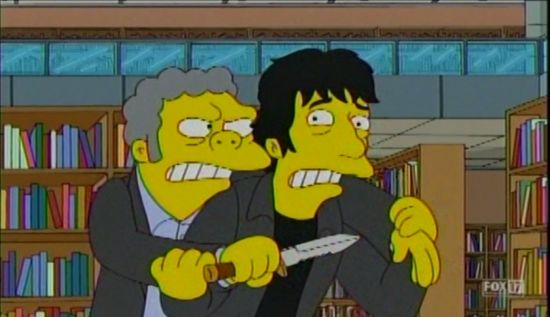 The Simpsons Neil Gaiman and Moe