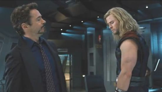 Avengers Movie Tony Stark and Thor