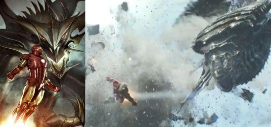 Avengers Iron Man vs Fin Fang Foom