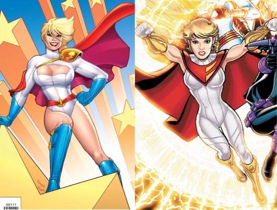 Power Girl Costume Change
