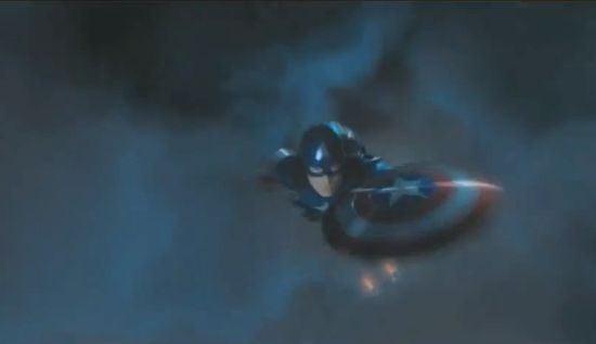 Avengers Captain America falling