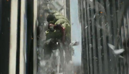 Avengers Hulk Catches Iron Man